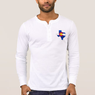 Vibrant Colorado flag Texas shape thermal shirt
