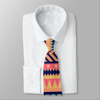 Vibrant colored abstract pattern tie