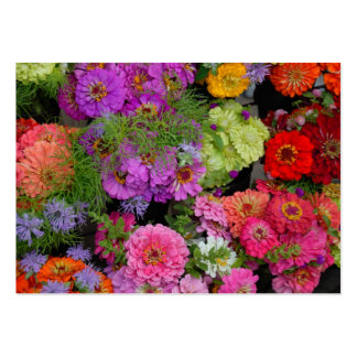Vibrant colored daisies large business card