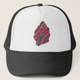 Vibrant Colored Fall Leaf Trucker Hat