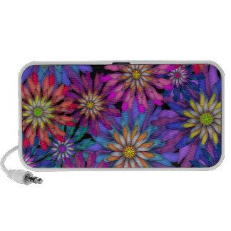 Vibrant Colored Flowers Floral Art Speaker System