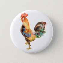 Vibrant colored Rooster Button