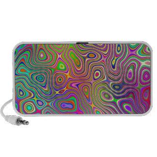 Vibrant Colored Swirls Notebook Speakers