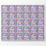 [ Thumbnail: Vibrant, Colorful 35th Birthday + Custom Name Wrapping Paper ]