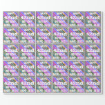 [ Thumbnail: Vibrant, Colorful 42nd Birthday + Custom Name Wrapping Paper ]