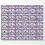 [ Thumbnail: Vibrant, Colorful 82nd Birthday + Custom Name Wrapping Paper ]