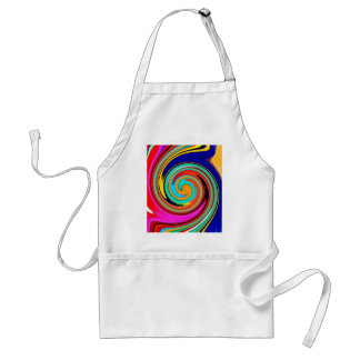 Vibrant Colorful Abstract Swirl of Melted Crayons Adult Apron