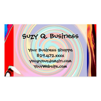 Vibrant Colorful Abstract Swirl of Melted Crayons Business Card