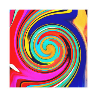 Vibrant Colorful Abstract Swirl of Melted Crayons Stretched Canvas Prints