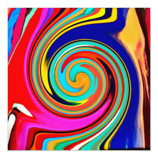 Vibrant Colorful Abstract Swirl of Melted Crayons Card