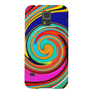 Vibrant Colorful Abstract Swirl of Melted Crayons Galaxy S5 Cases