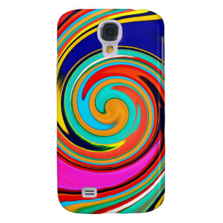 Vibrant Colorful Abstract Swirl of Melted Crayons Samsung Galaxy S4 Case