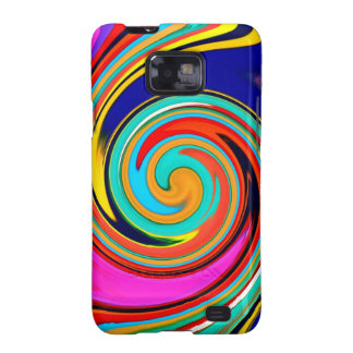 Vibrant Colorful Abstract Swirl of Melted Crayons Samsung Galaxy S2 Covers