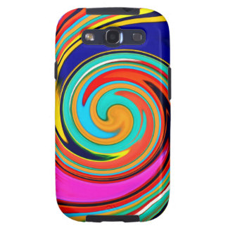 Vibrant Colorful Abstract Swirl of Melted Crayons Galaxy S3 Cover