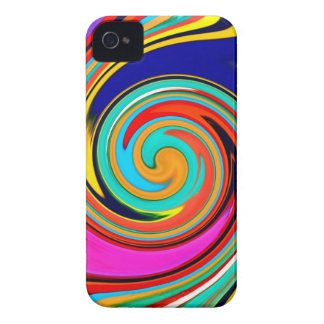 Vibrant Colorful Abstract Swirl of Melted Crayons iPhone 4 Cases