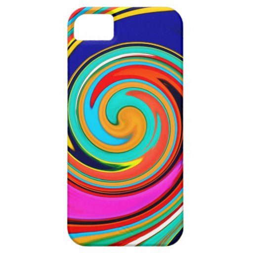 Vibrant Colorful Abstract Swirl of Melted Crayons iPhone 5 Case