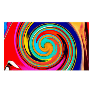 Vibrant Colorful Abstract Swirl of Melted Crayons Double-Sided Standard Business Cards (Pack Of 100)