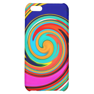 Vibrant Colorful Abstract Swirl of Melted Crayons Cover For iPhone 5C