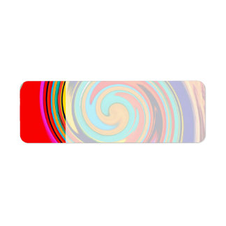 Vibrant Colorful Abstract Swirl of Melted Crayons Label
