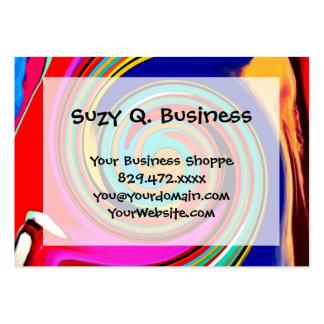 Vibrant Colorful Abstract Swirl of Melted Crayons Large Business Card