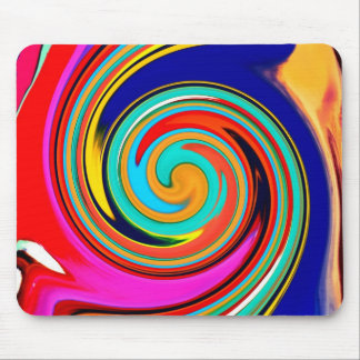 Vibrant Colorful Abstract Swirl of Melted Crayons Mouse Pad