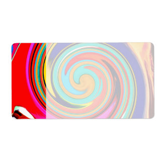 Vibrant Colorful Abstract Swirl of Melted Crayons Shipping Label