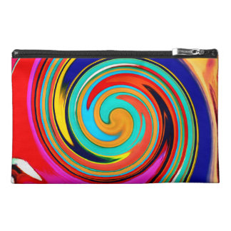 Vibrant Colorful Abstract Swirl of Melted Crayons Travel Accessories Bag