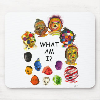"Vibrant Colorful Baby Face ""What Am I"" Mousepad"
