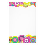 Vibrant colorful circles stationery paper