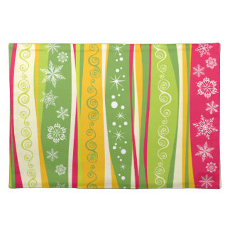 Vibrant Colorful Contemporary Festive Pattern Cloth Placemat