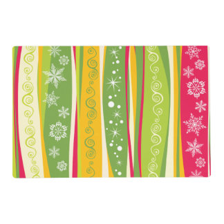 Vibrant Colorful Contemporary Festive Pattern Placemat