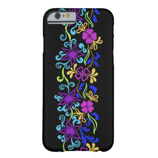 Vibrant, colorful flowers with leaves and swirls barely there iPhone 6 case