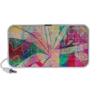 Vibrant Colorful Funky Abstract Girly Butterfly Ch Mp3 Speakers