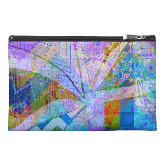 Vibrant Colorful Funky Blue Purple Butterfly Chevr Travel Accessories Bag