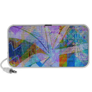 Vibrant Colorful Funky Blue Purple Butterfly Chevr Speaker