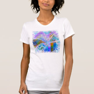 Vibrant Colorful Funky Blue Purple Butterfly Chevr T-Shirt