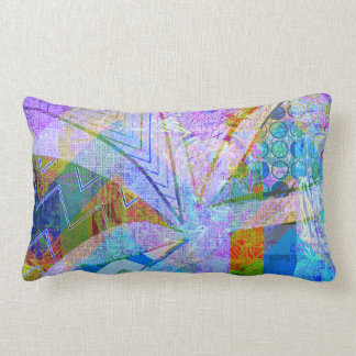 Vibrant Colorful Funky Blue Purple Butterfly Chevr Throw Pillow