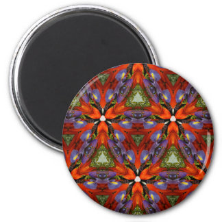 Vibrant Colorful Funky Kaleidoscope Pattern Magnet