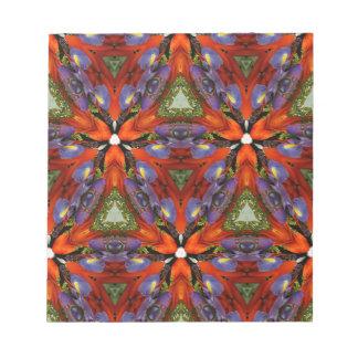 Vibrant Colorful Funky Kaleidoscope Pattern Notepad