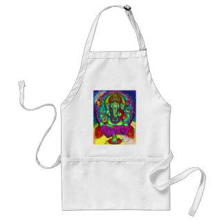 Vibrant Colorful Ganesh Painting Aprons