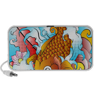 VIBRANT COLORFUL KOI FISH iPod SPEAKERS