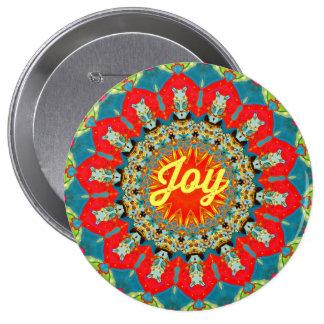 "Vibrant Colorful Spreading ""Joy"" Abstract Circles Button"