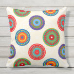 "Vibrant Colorful Summer Mandala Double Sided Outdoor Pillow<br><div class=""desc"">Vibrant Colorful Summer Mandala Double Sided Outdoor Pillows. Great for patio,  deck or garden bench.</div>"