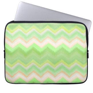 Vibrant Colorful Summer Pastel Ikat Zigzag Pattern Laptop Sleeve