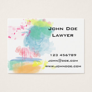 Vibrant, Colorful Watercolor Spatters Business Card
