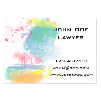 Vibrant, Colorful Watercolor Spatters Large Business Cards (Pack Of 100)