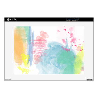 Vibrant, Colorful Watercolor Spatters Laptop Skins