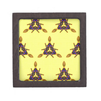 Vibrant Cool Funky Yellow Seamless Pattern Gift Box