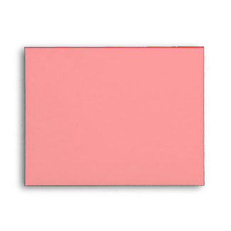 Vibrant Coral Background Accent Color Envelope