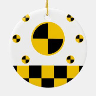 Vibrant Crash Test Markers Ceramic Ornament